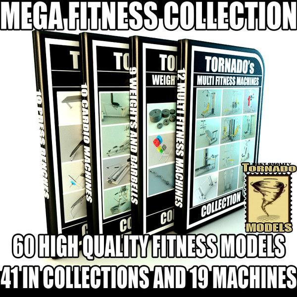 60 FITNESS MODELS COLLECTION VOL 2 3D Models