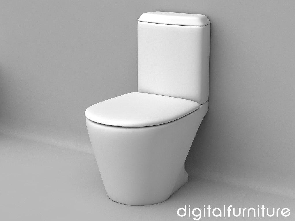 3d toilet furniture model - Toilet model ...