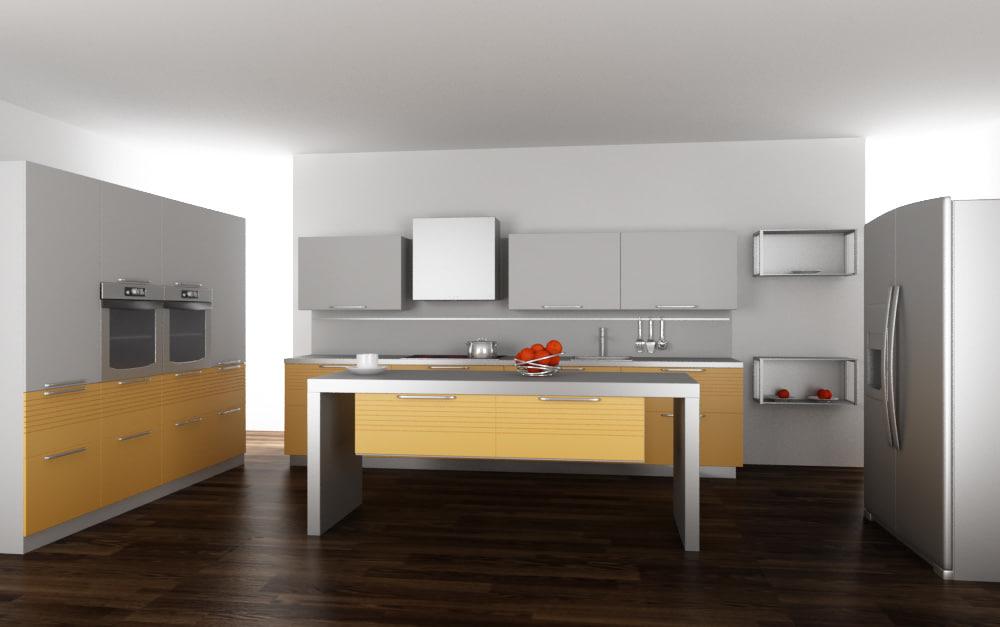 3d kitchen set 03 for Kitchen set 06