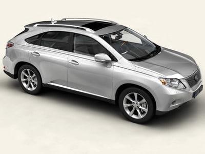 Lexus RX 2010 3D Models