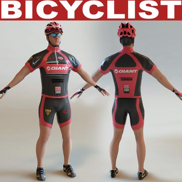 Bicyclist static 3D Models