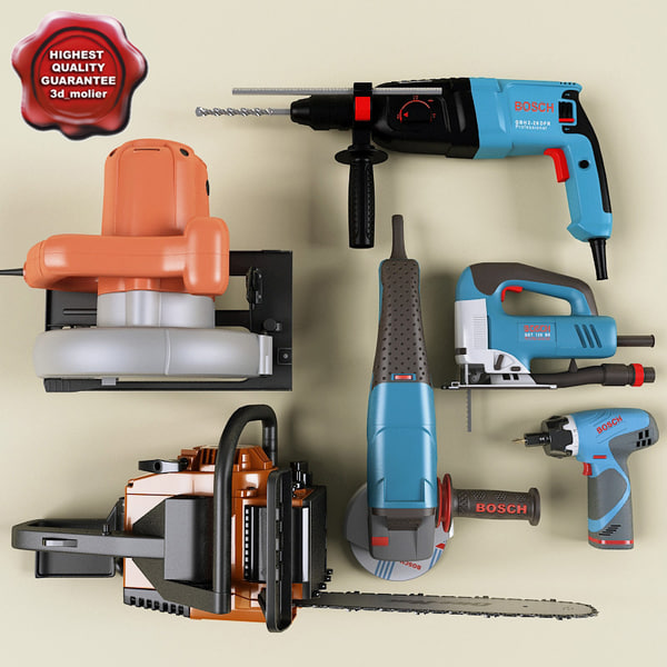 Power tools collection V3 3D Models