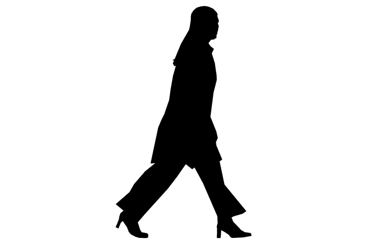 Human figure black walking