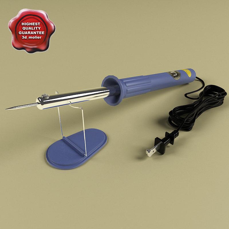 3d model soldering iron. Black Bedroom Furniture Sets. Home Design Ideas