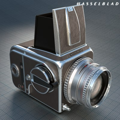 Hasselblad 500C Medium Format Film Camera 3D Models