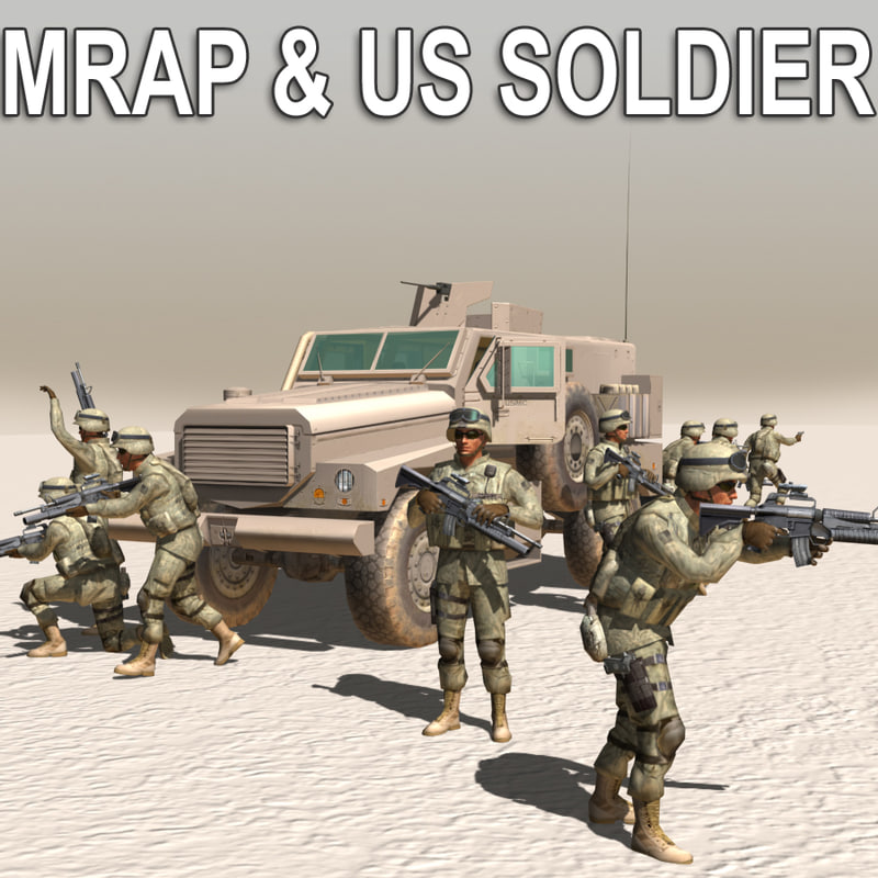 MRAP & US Army Soldier