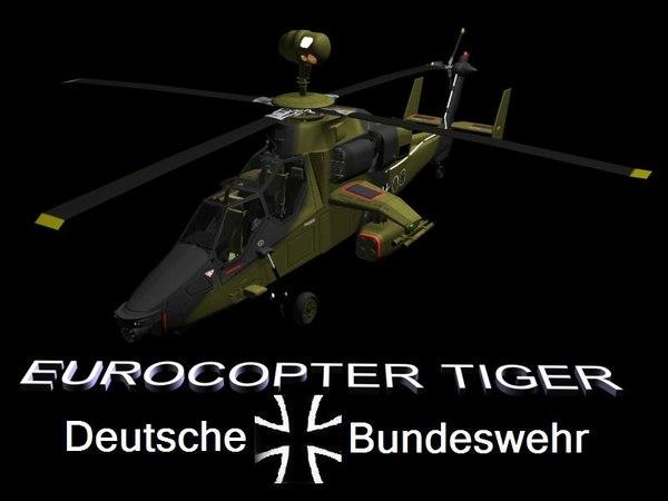 UH Tiger Eurocopter 3D Models