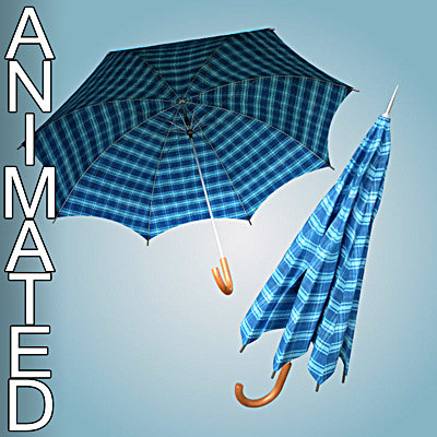 Animated Umbrella 3D Models