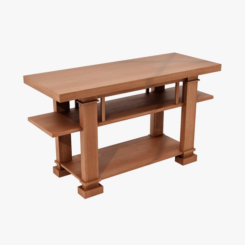 3d design hall table boynton for 3d table design