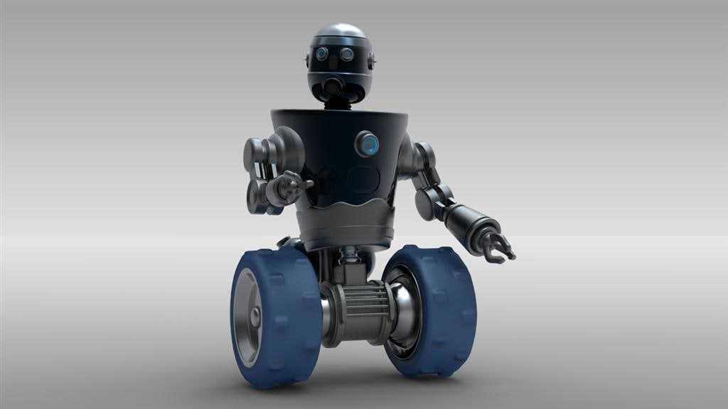 Robot 3 (Rigged & Animated)