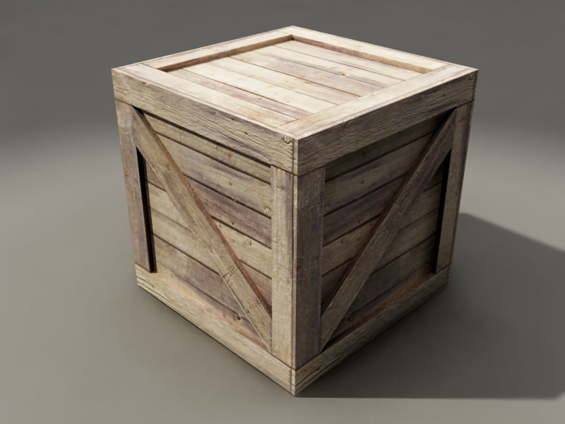 3d old wooden crate for Where do i find wooden crates