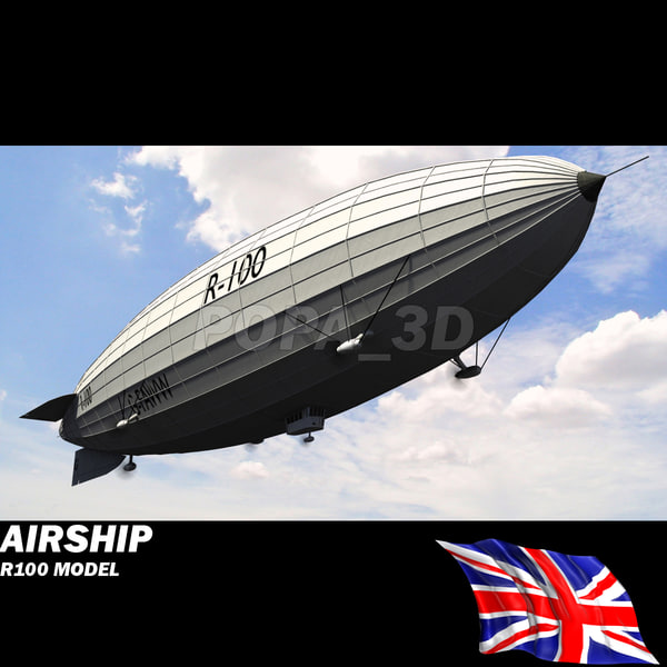 British Airship R-100 3D Models