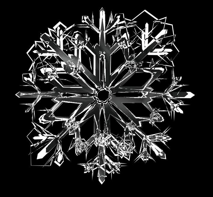 snowflakes snow 3d c4d