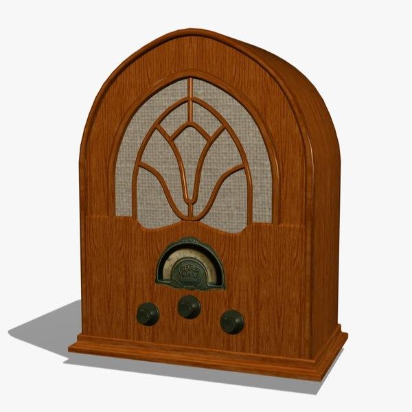 FR Antique Radio 3D Models