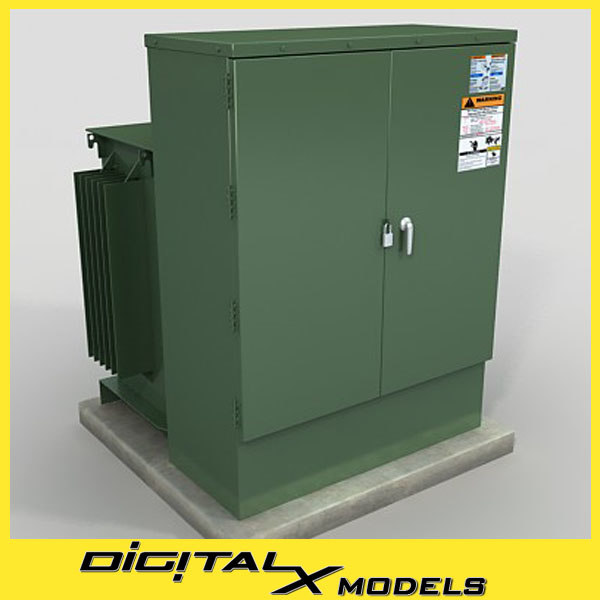 rooftop Electric Box 2 3D Models