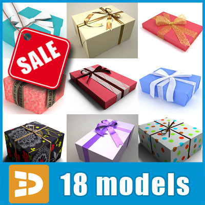 Gift wrap collection by 3DRivers 3D Models
