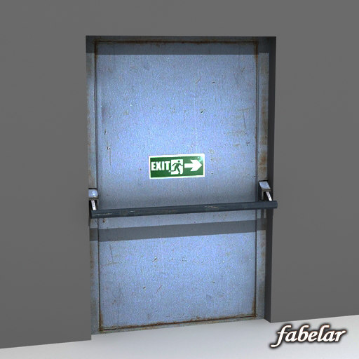 Emergency exit 3D Models