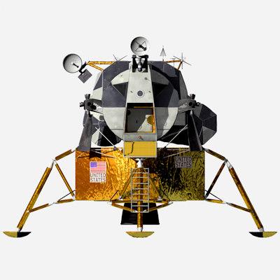 Lunar landing module LEM Texture Maps