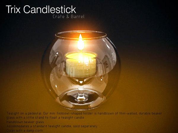 Trix Candleholder 3D Models