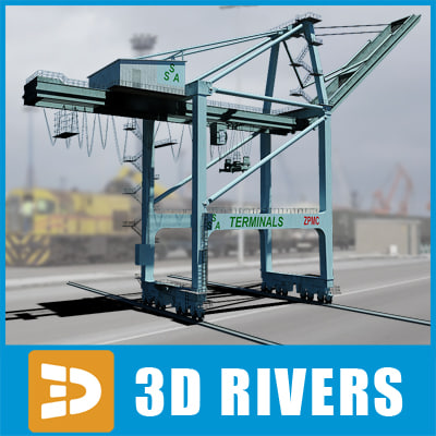 Gantry crane 02 by 3DRivers 3D Models