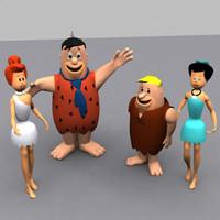 Flintstones 3D models