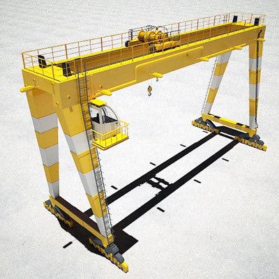Gantry Crane 3D Models