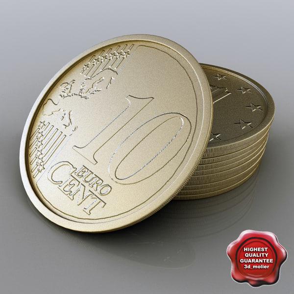 10 Euro cent 3D Models