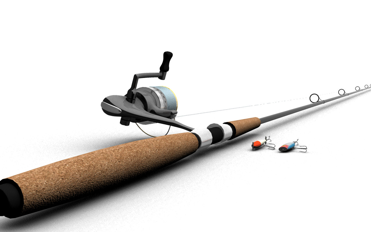 3d model fishing pole for How to make fishing rod