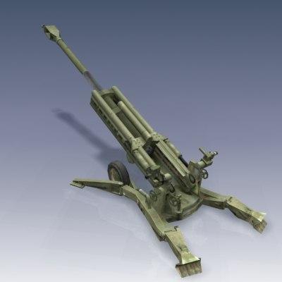 M777 Howitzer 3D Models