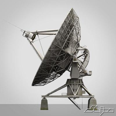 Big Dish antena 3D Models