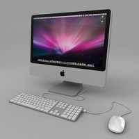 Apple iMac 22 3D models