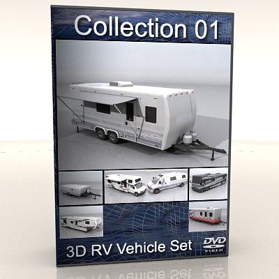 7 RV Collection Set 3D Models