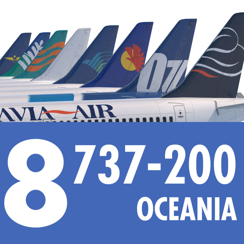 737 200 Collection. Eight Oceania Airlines
