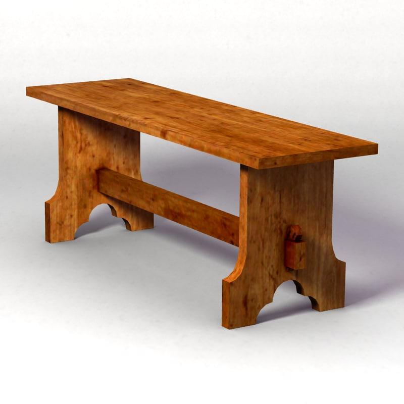 medieval bench 1