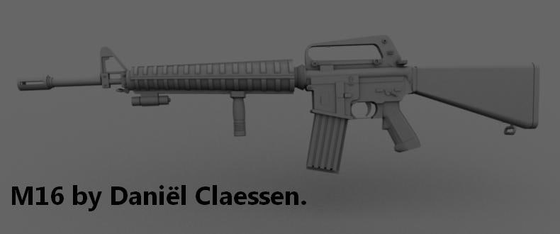M16 Highly detailed and low poly version package.