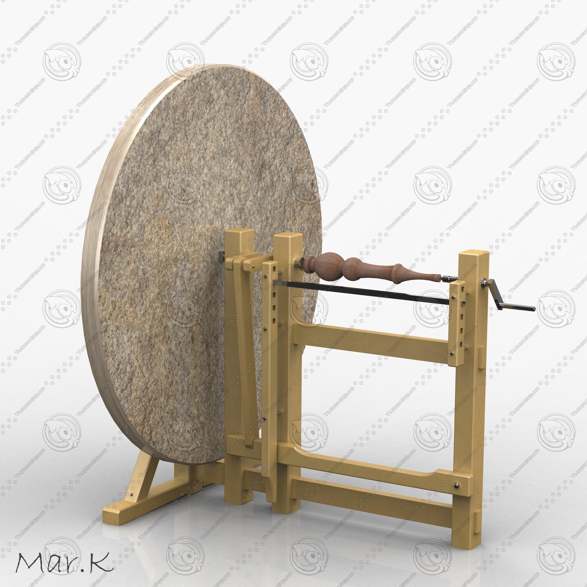3d wood turning lathe model