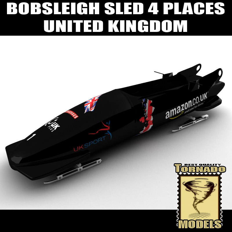 bobsleigh sled 4 places 3d xsi. Black Bedroom Furniture Sets. Home Design Ideas