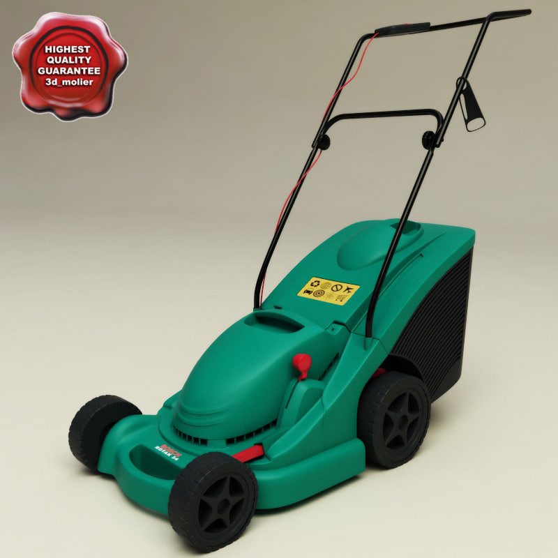 lawn mower bosch rotak 3d model. Black Bedroom Furniture Sets. Home Design Ideas