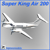 beechcraft super king air 200 3D models