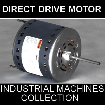 Direct Drive Blower Motor 3D Models