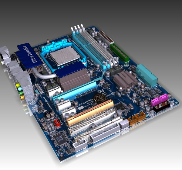 MOTHERBOARD  SOCKET AM3 AMD 3D Models