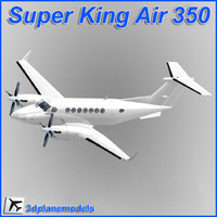 beechcraft super king air 350 3D models