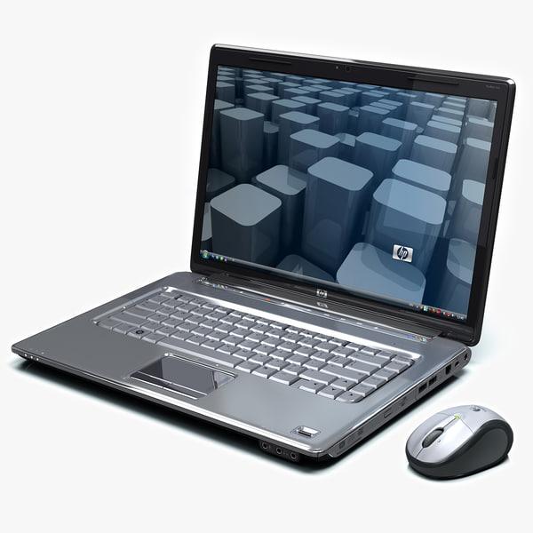 laptop HP Pavilion dv5 3D Models