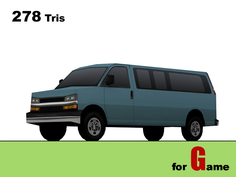 chevrolet express lowpoly