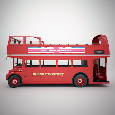 Classic Routemaster Open Top Stock Photography