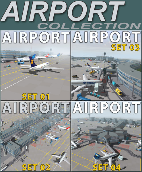 Airport Collection 3D Models