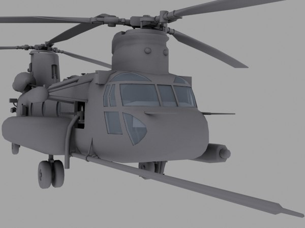 CH-47E SOA US Special Forces transport helicopter game model 3D Models