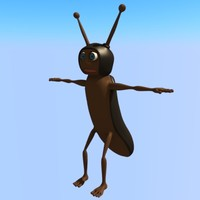 cartoon bug 3D models