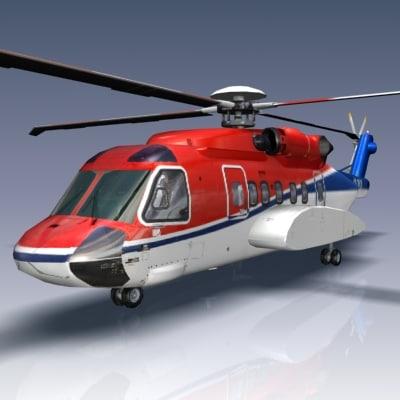 Sikorsky S92 3D Models