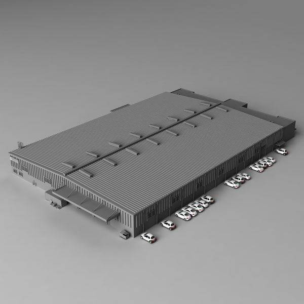 Industrial warehouse 3D Models
